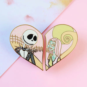 Jack & Sally Enamel Pin Set