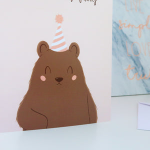 Happy Bearthday Greeting Card