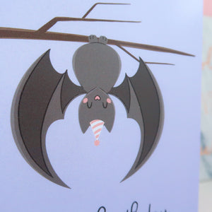 Happy Birthday Old Bat Greeting Card