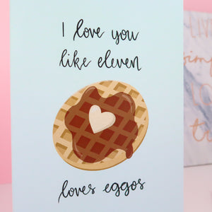 Mint Eggo Greeting Card