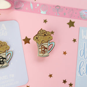 Light Butterbeer Enamel Pin
