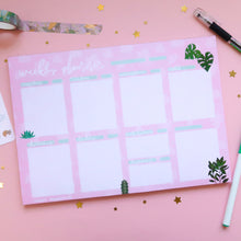 Load image into Gallery viewer, Plants A4 Weekly Desk Planner - Dotted