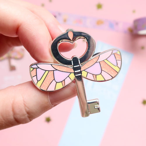 Peach Key Enamel Pin