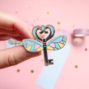 Flying Key Bright Enamel Pin Set