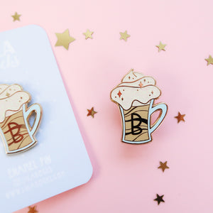 Butterbeer Enamel Pin