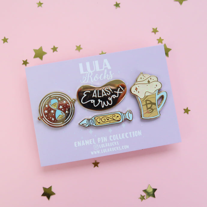 Golden Wonders Enamel Pin Set