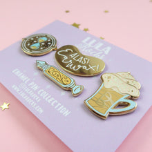 Load image into Gallery viewer, Golden Wonders Enamel Pin Set
