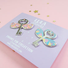 Load image into Gallery viewer, Flying Key Bright Enamel Pin Set
