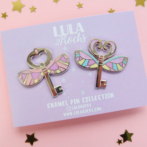 Flying Key Pastel Enamel Pin Set