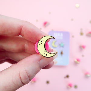 Kawaii Space Blue Enamel Pin Set