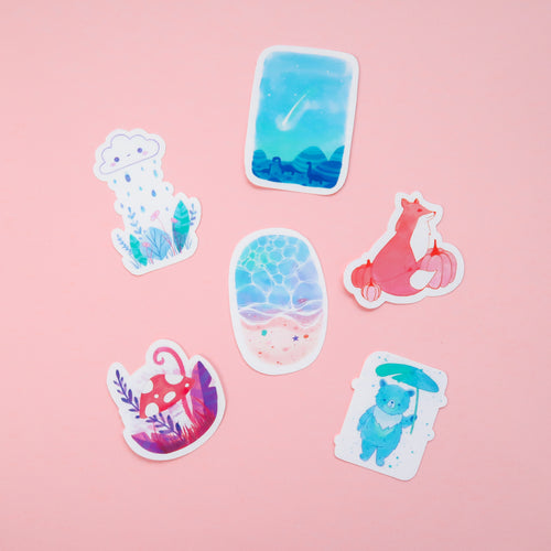 Ink Vinyl Sticker Set