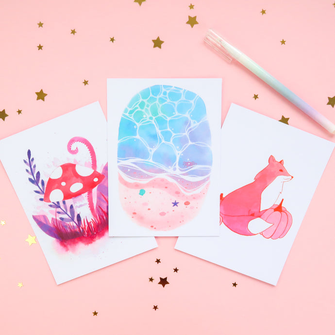 Warm Ink Postcard Set