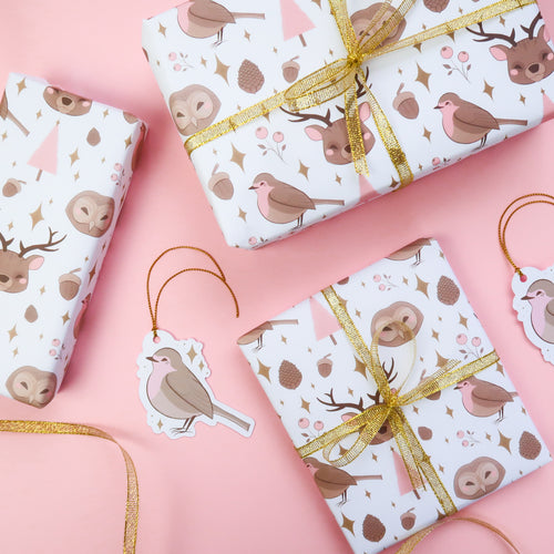 Soft Woodland Gift Wrap