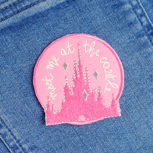 Pink Castle Iron-On Patch