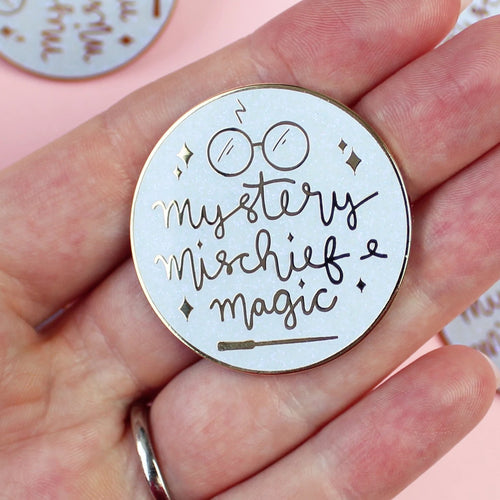 Mystery, Mischief and Magic Enamel Pin