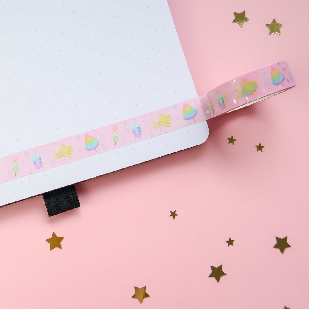 Space Snacks Holographic Foil Washi Tape