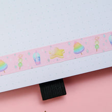 Load image into Gallery viewer, Space Snacks Holographic Foil Washi Tape