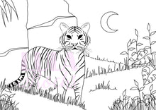 Load image into Gallery viewer, Dreamy Tiger Colouring Page