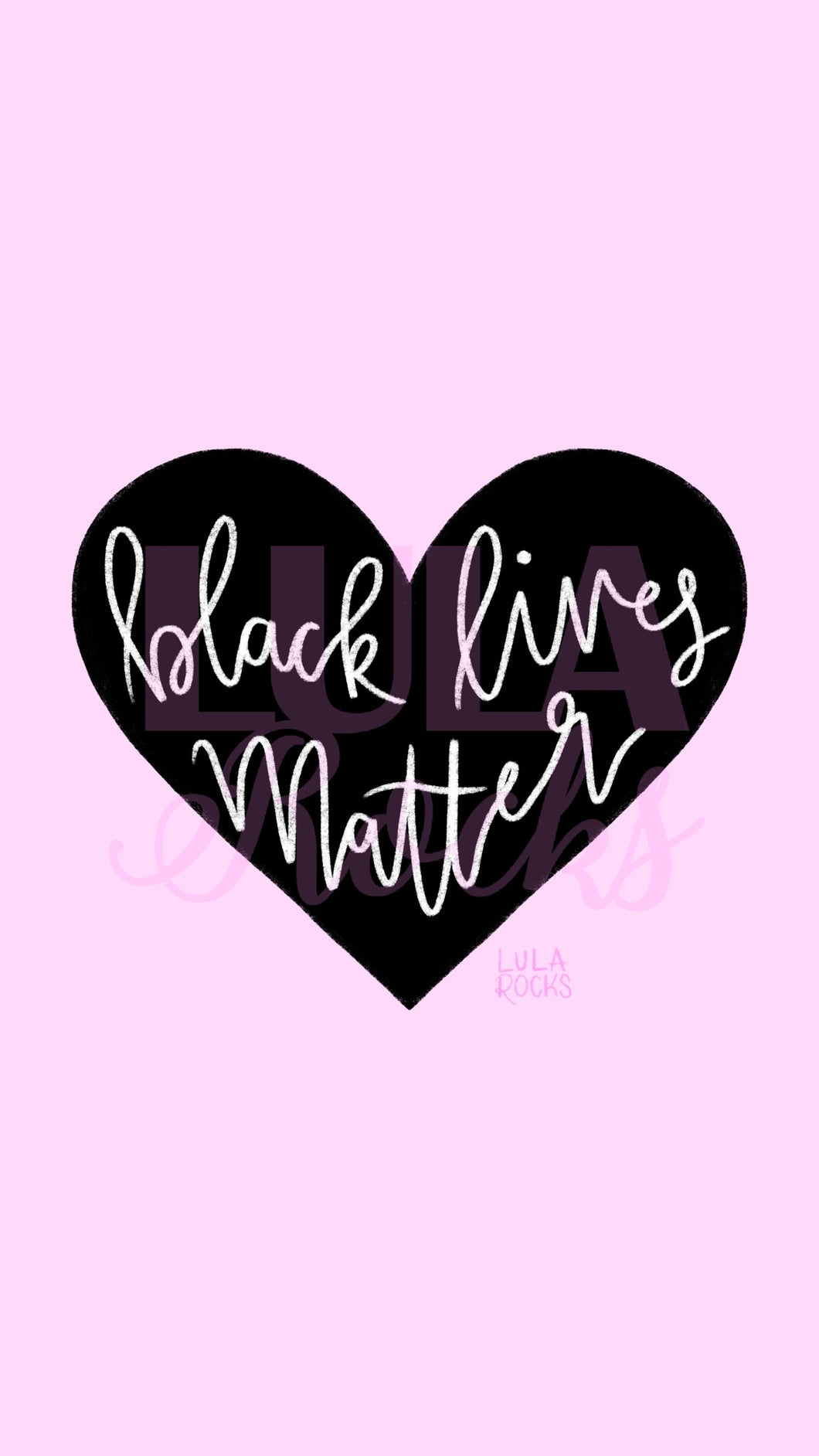 Pink BLACK LIVES MATTER Fundraiser Digital Wallpaper