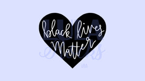 Blue BLACK LIVES MATTER Fundraiser Digital Wallpaper