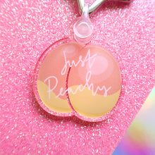 Load image into Gallery viewer, Just Peachy Recycled Acrylic Keyring
