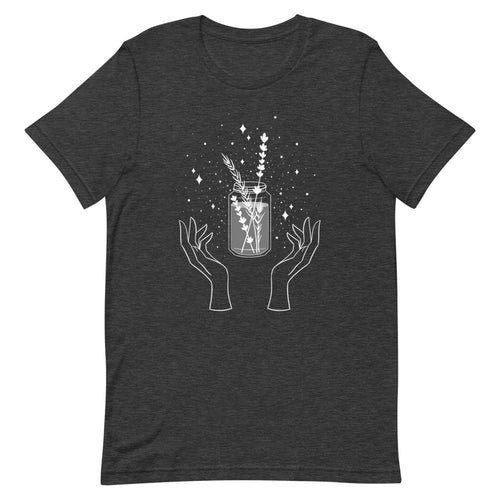 Herb Witch Short-Sleeve Unisex T-Shirt Dark Grey Heather