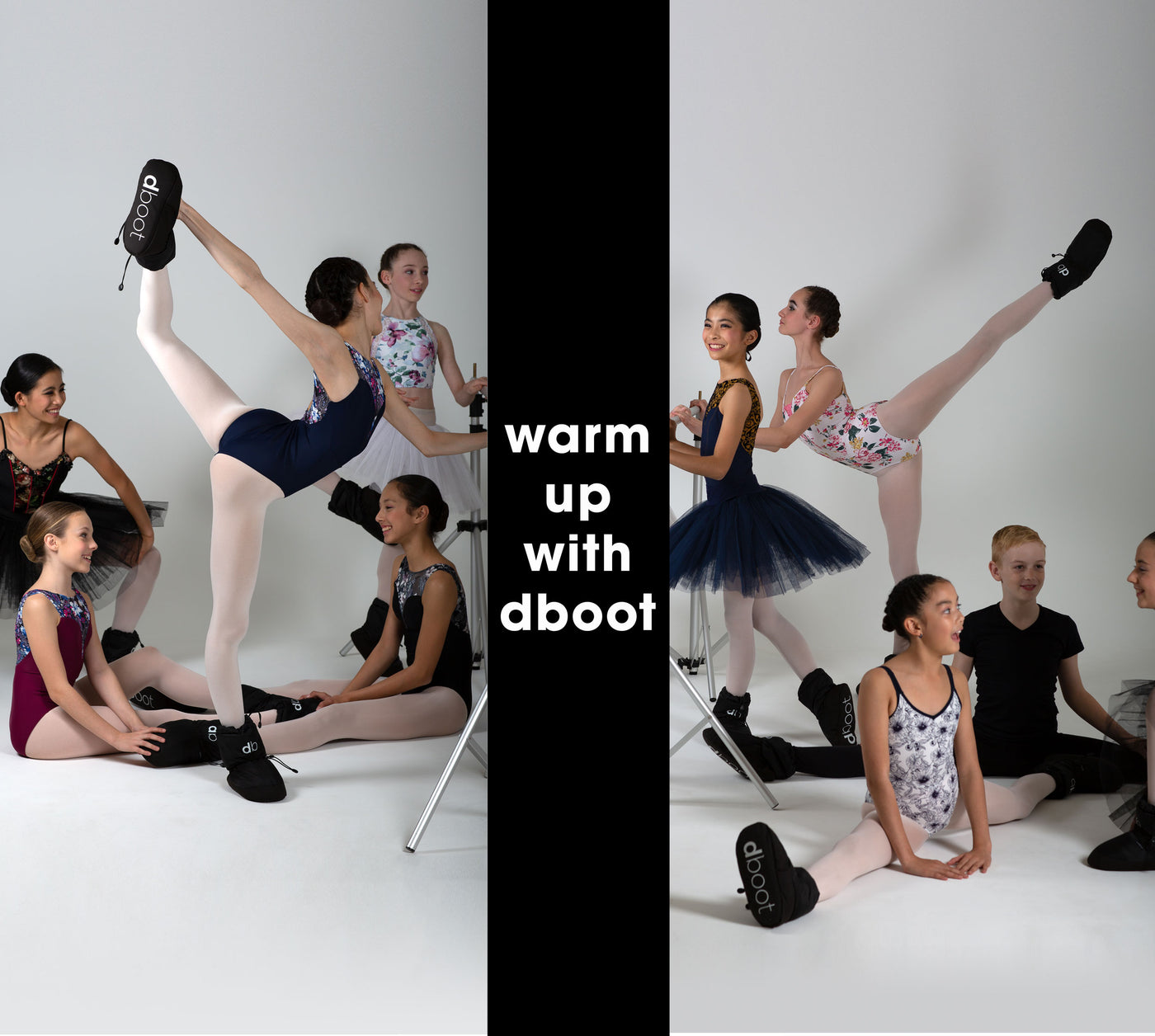 warm up boots black ballet dancers