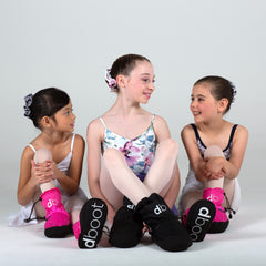 group ballerinas warm up boots