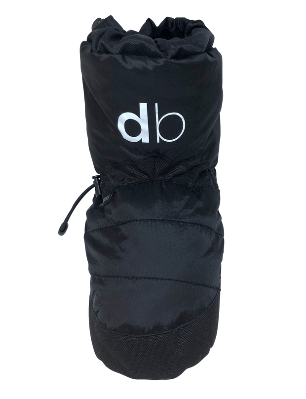 dboot dance wear warm up boot black liquorice