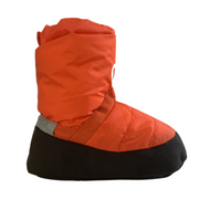 orange warm up boots