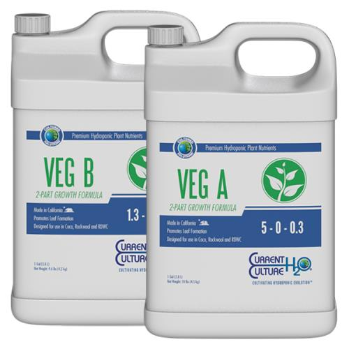Cultured Solutions™ Veg A 5 - 0 - 0.3 & Veg B 1.3 - 2 - 5.9