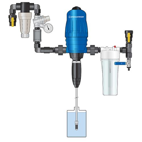 Dosatron Industrial Plumbing Kit with Mixing Chamber - 14 GPM (IPK34MC)