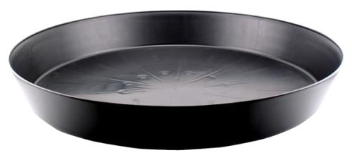 Black Premium Plastic Saucer 25 in (5/Cs)