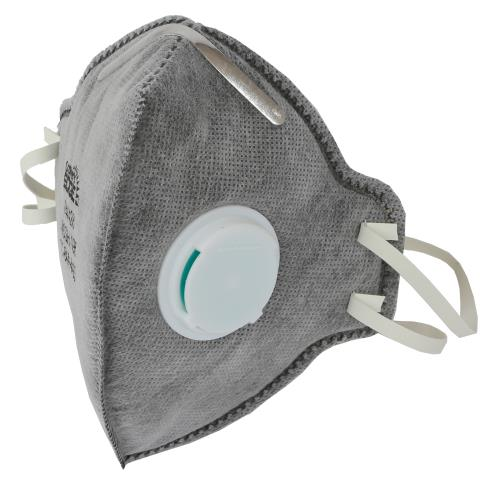 Grower's Edge Clean Room Vertical Fold-Flat Active Carbon Respirator Mask w/ Valve (10/Cs)