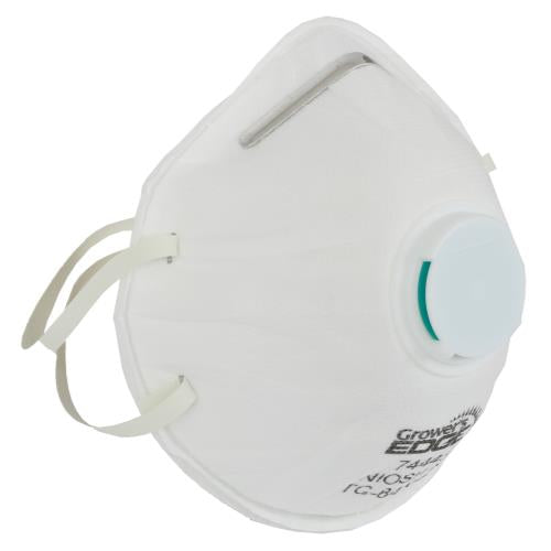 Grower's Edge Clean Room Conical Particulate Respirator Mask w/Valve (10/Cs)