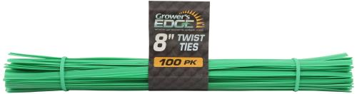 Grower's Edge Twist Tie Precut 8 in (1= 100 pcs/bundle)