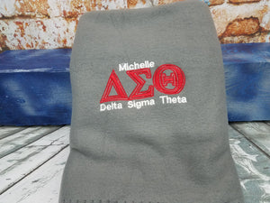 Delta Sigma Theta Throw Fleece Blanket