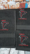 Atlanta Falcons NFL 3 Piece Personalized Bath Towel Customize Gift Set with Embroidered Letters and Name.