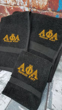 Alpha Phi Alpha 3-Piece Towel Set. Embroidery Customized Name. Alpha Towels with Embroidered Greek Letters and Name or College.