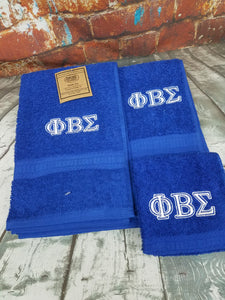 Phi Beta Sigma Royal Blue Personalize 3 Piece Towel Set