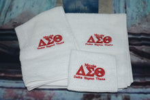 Delta Sigma Theta 3-Piece Towel Set. Hand Towels Delta. Delta Wash cloth. Delta Sigma Theta Towels.
