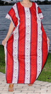 100% Cotton Caftan ! Plus Size ! One Size Fits Most !! Can Fit 1X 2X 3X !!