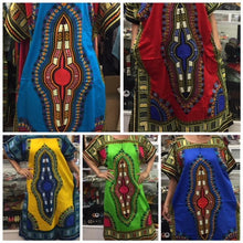 Load image into Gallery viewer, 100% Cotton Fabric, Dashiki Print Kaftan with Zipper, 1X, 2X, 3X