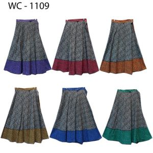 100% Cotton Wrap Skirt! Block Print! One Size Fits Most!