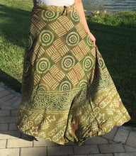 Load image into Gallery viewer, 100% Fine Rayon Wrap Skirt | Block Print ! One Size Fits Most | A Line Fit!