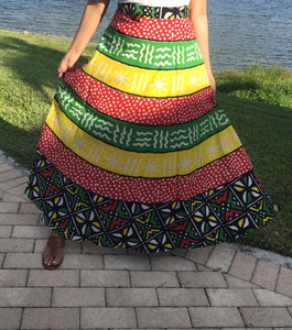 100% Cotton Wrap Skirt | African Print ! One Size Fits Most |