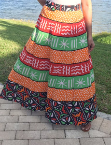 100% Fine Rayon Wrap Skirt | African Print ! One Size Fits Most |