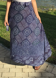 100% Fine Rayon Wrap Skirt | Block Print ! One Size Fits Most | A Line Wrap Skirt Perfect Fit for any Size