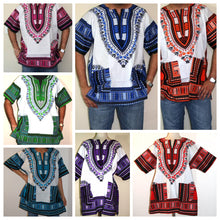 Load image into Gallery viewer, African Unisex Dashiki Plus Size | Ethnic | Hippie Shirt | 60s 70s Look