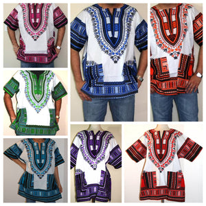 African Unisex Dashiki Plus Size! One Size! One Size Fits Most! Hippie Shirt! 60s 70s Look!